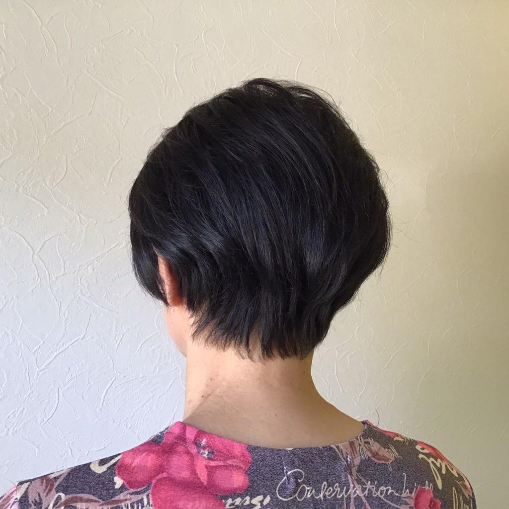 くせで細くて少なめの髪質でもふんわりショートヘア